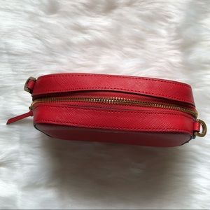 Calvin Klein Bags - CALVIN KLEIN Red Galey Saffiano Leather Camera Bag